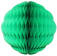 Small 8 Inch Honeycomb Scallop Ball Decoration (3-pack) - Solid Colors