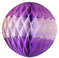 Lilac & White Honeycomb Balls, 3-Pack (Assorted Sizes)