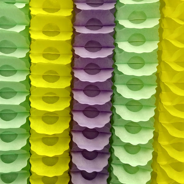 6-Piece Set of Mardi Gras Pastel Party Garlands (12 Ft. Each)