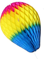 11 Inch Rainbow Striped Honeycomb Balloon - MULTIPLE OPTIONS