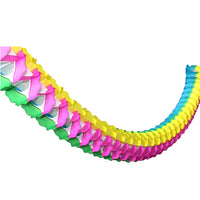 Multi Rainbow Oval Garland, 12 Foot (Yellow, Green, Blue, Cerise)