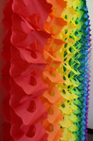 6-Pack 12 Foot Tissue Paper Oval Garlands - Solid Colors