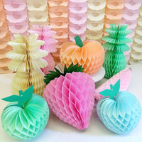 honeycomb fruit decorations