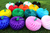 10 Inch Pumpkin Decorations - Baby Shower Reveal Pink Blue (4-Piece)