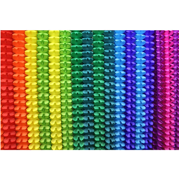 20-Piece Rainbow Themed Tissue Garlands, 12 Foot