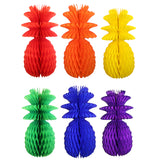 Rainbow Themed 13 Inch Pineapple Decorations (6-Piece)