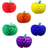 Rainbow Themed 10 Inch Honeycomb Pumpkins (6-Piece)