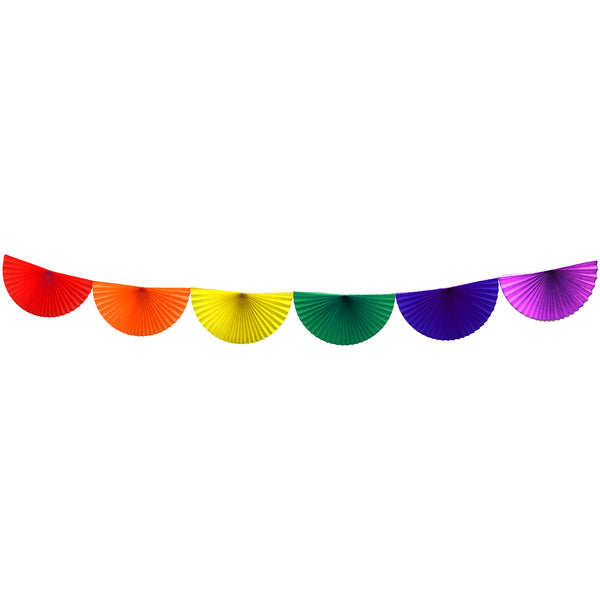 10 Foot Rainbow Bunting Garland (Solid Scallops)