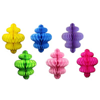 6-Piece Set of 10 Inch Chandelier Decorations, Bright Rainbow