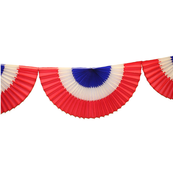10 Foot Striped Red, White, Blue Bunting Garland