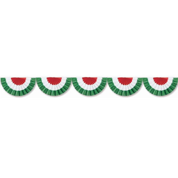 10 Foot Red, White, & Green Bunting Garland (Striped)