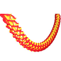 Red & Yellow Oval Garland, 12 Foot