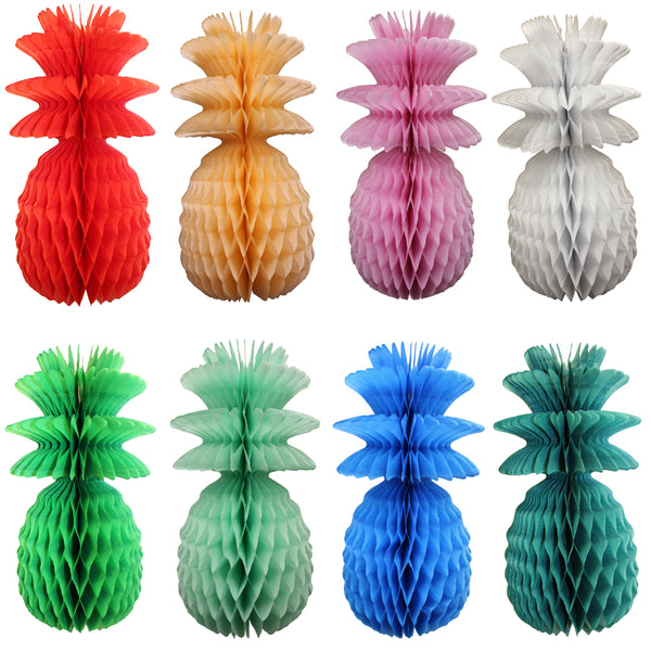 13 Inch Honeycomb Pineapple Decoration - Solid (3-pack)