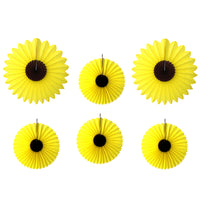 6-Piece Assorted Tissue Paper Sunflowers - 13 & 18 Inch
