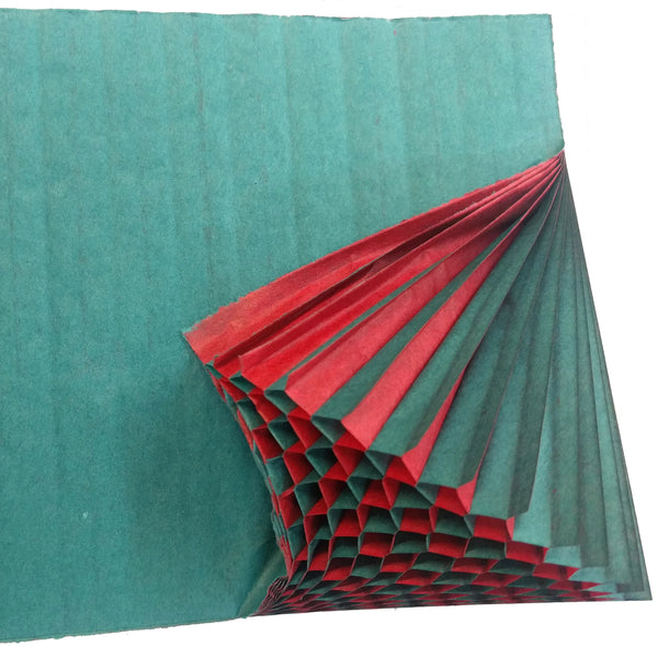 Honeycomb Craft Paper - Teal & Red (Two-Tone)