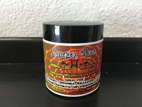 Honey 250mg Full Spectrum CBD (Oregon Wildflower )-Superior Root