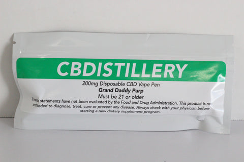 CBDistillery 200mg Vape Pen (all flavors)