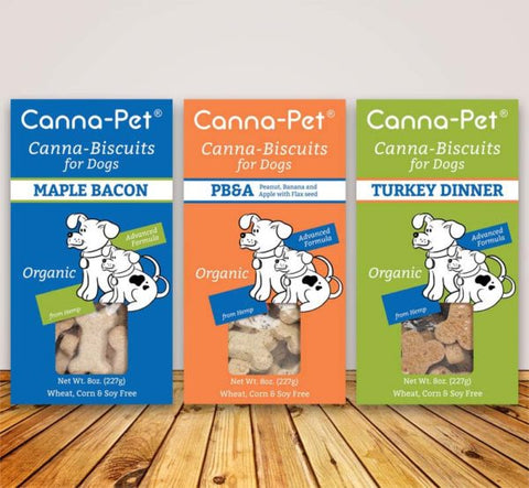Canna-Pet biscuits 8oz Box All Flavors