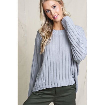 Silver Comfy Sweater