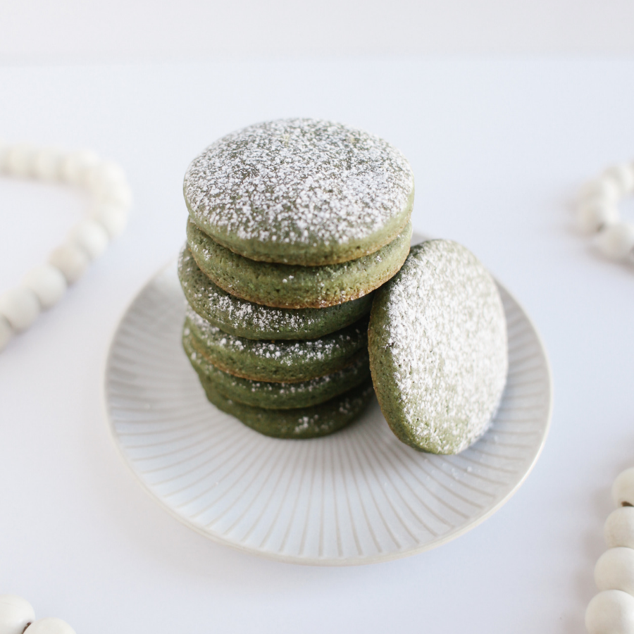 Matcha Sugar Cookies