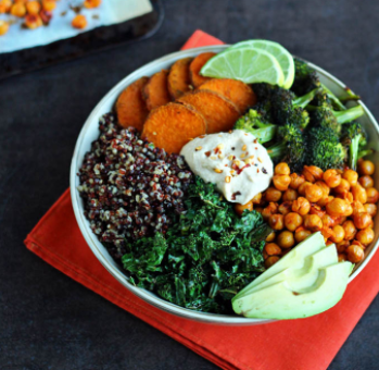 SMART Clean Superfood Recipe- Roasted Vegetable Quinoa Bowl