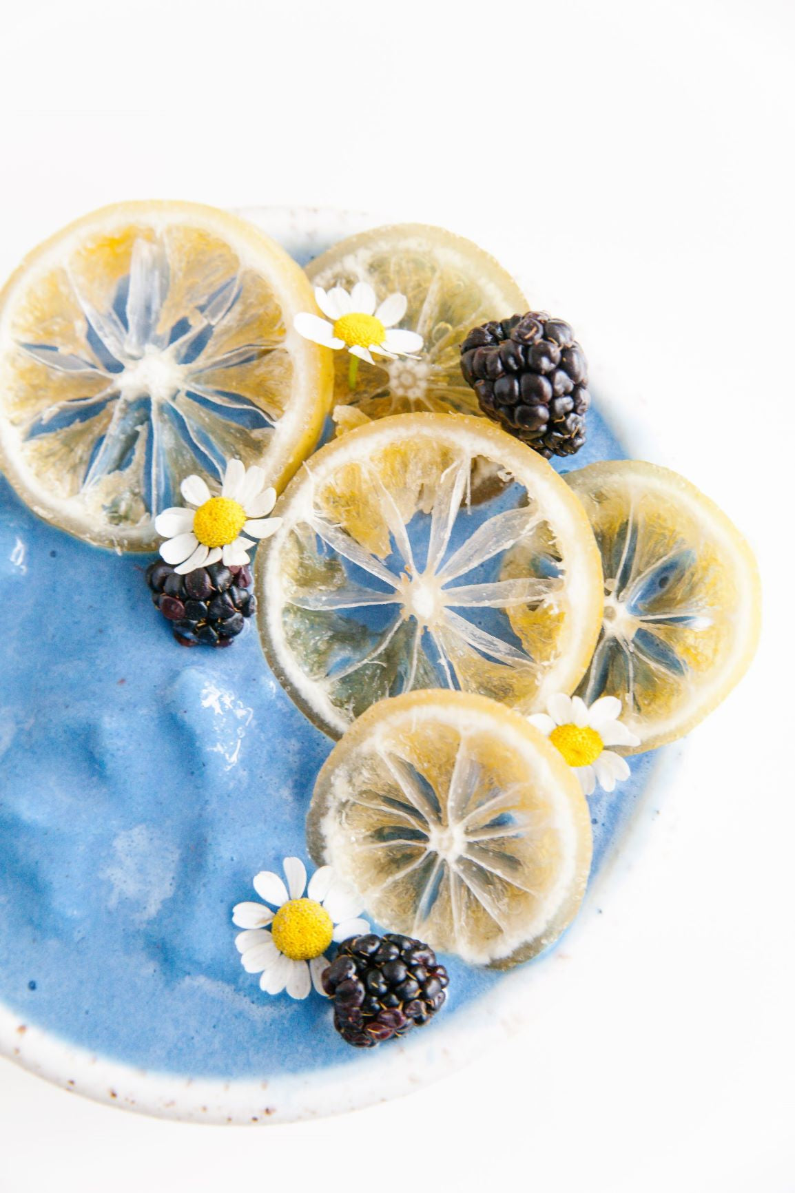 Image of a Blue Protein Spirulina Smoothie Bowl