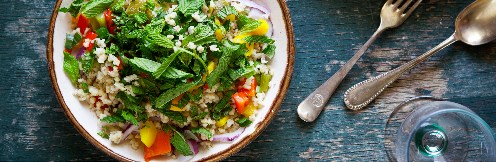 Mint and Lime Quinoa Salad