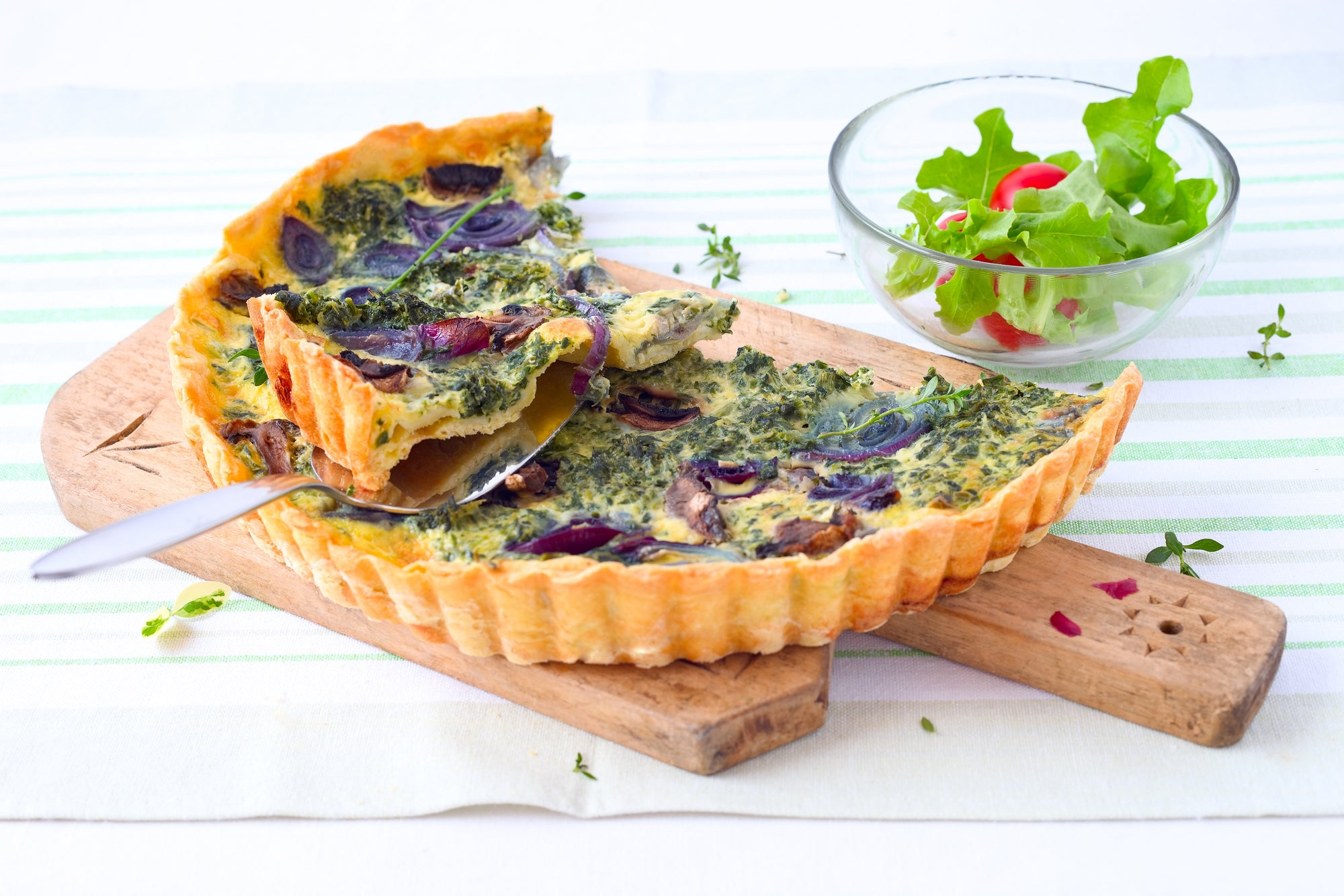 Asparagus Quiche with Tarragon (Vegan)