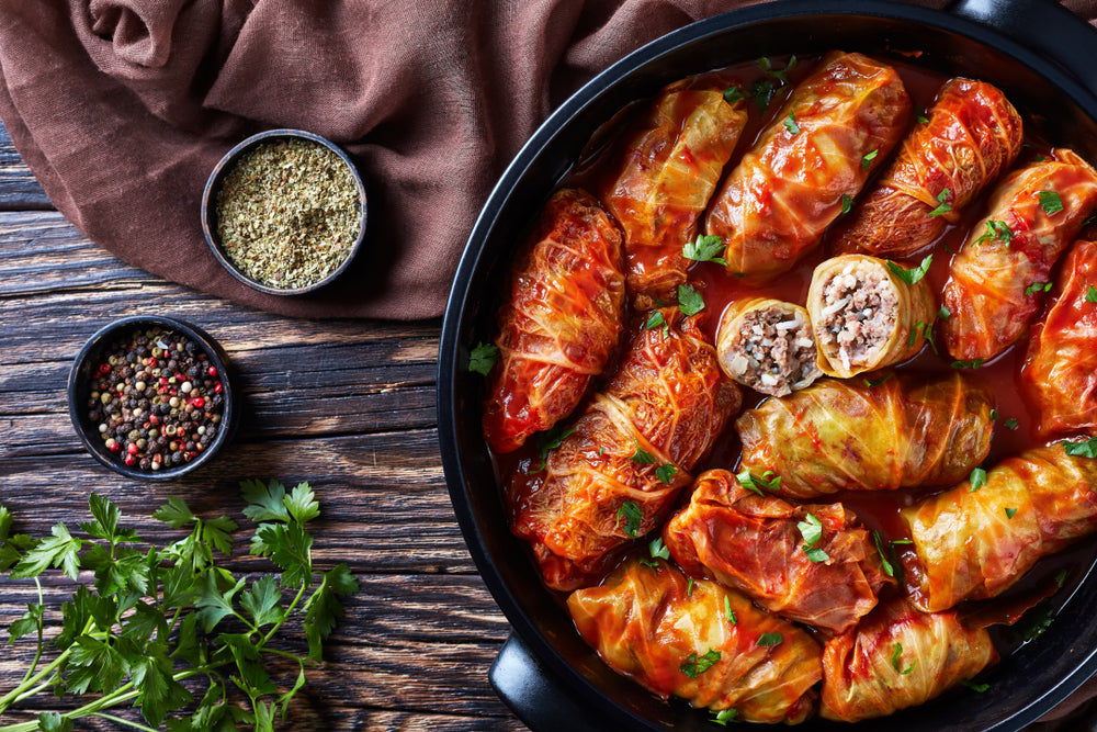 Barley Stuffed Cabbage Rolls