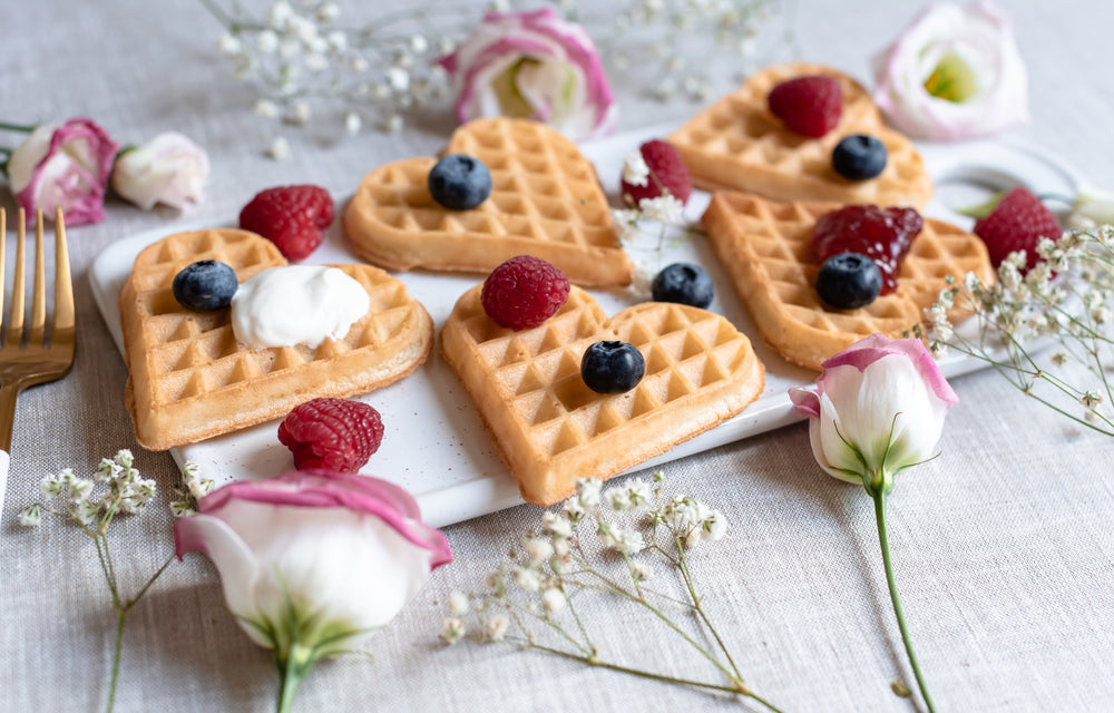Proteini Heart-Shaped Waffles