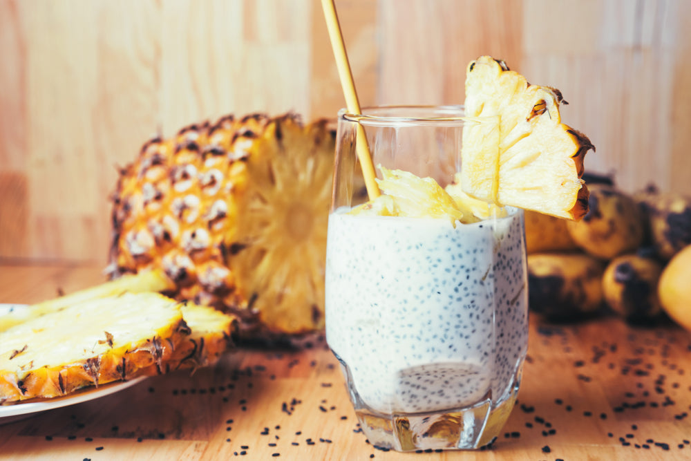 Pineapple Chia Cleanse- Superfood Chia Seeds and Pineapple for Health