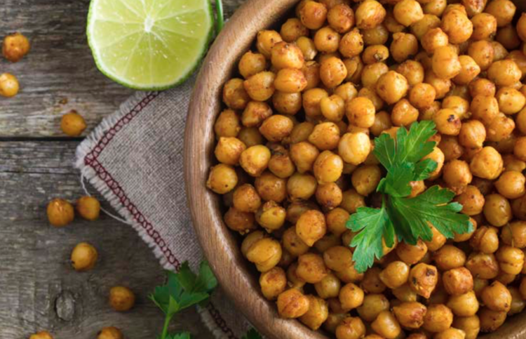 Spiced Chickpeas with Rotisserie Chicken