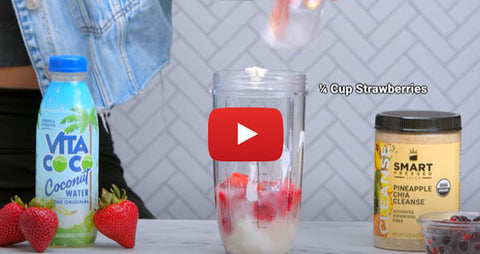Triple Berry Coconut Water Cleanse Smoothie