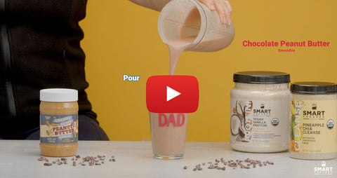 Chocolate Peanut Butter Cup Smoothie Video