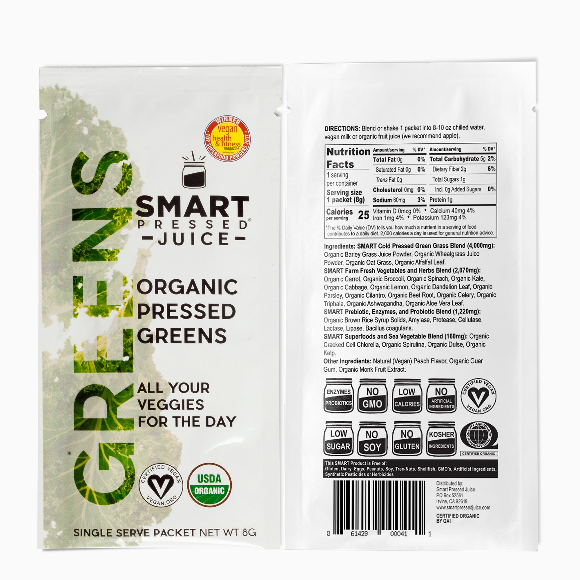 Smart Pressed Juice Organic Pressed Greens Packets