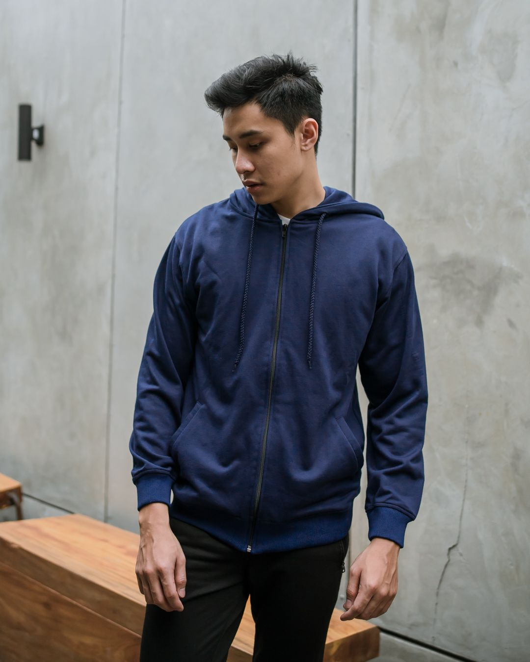 Cezip Terry Jacket Navy