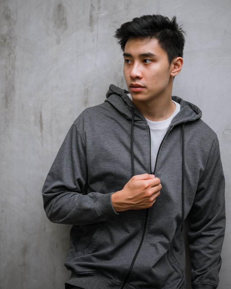 Cezip Terry Jacket Dark Gray