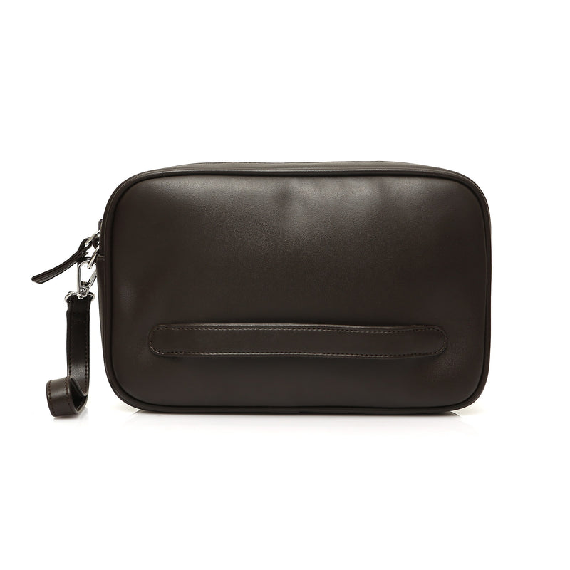 Grip Hand Bag Dark Brown