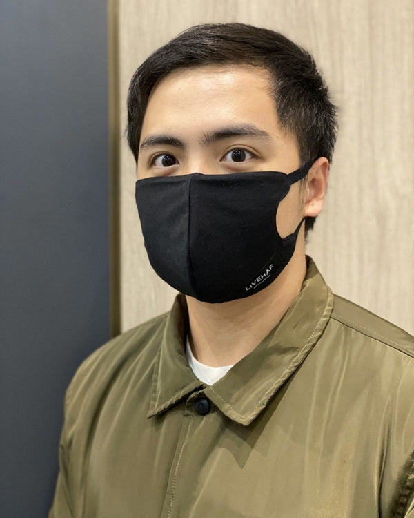 Double Layer LVHF Mask Black (isi 5pcs)