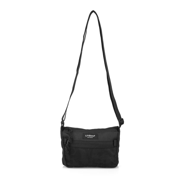 Net Front Sling Bag Black