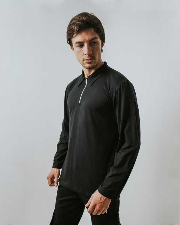 Nezi Polo LS Black