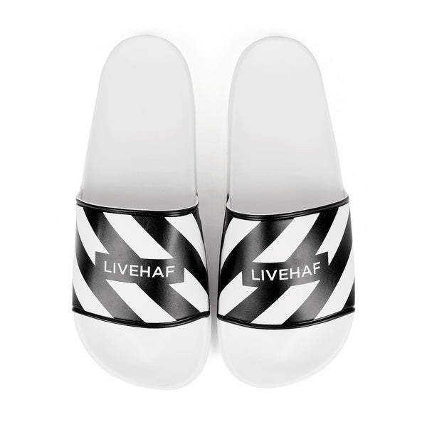 Slipper V2 Zebra All White