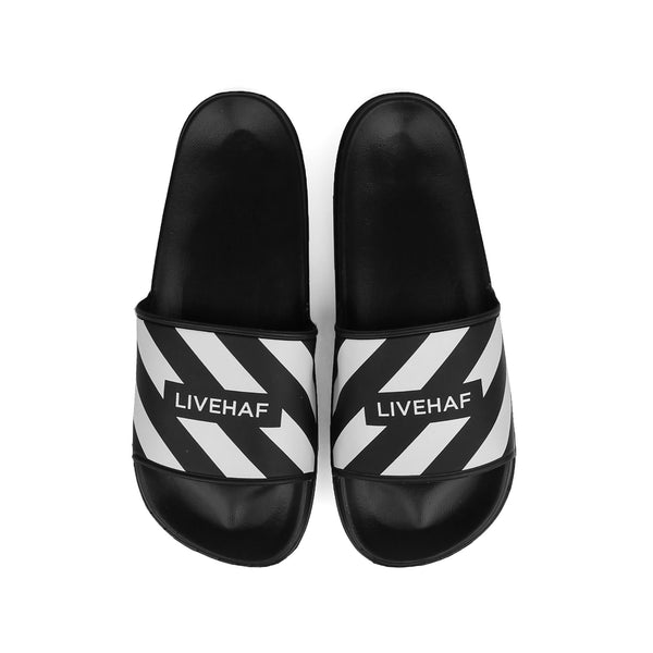 Slipper V2 Zebra Black