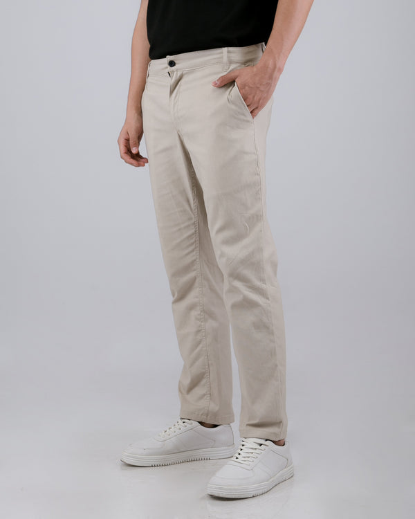 Tib Chino Long Pants Light Cream