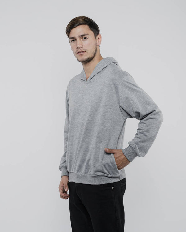 Tib Terry Hoodie Jumper Light Gray