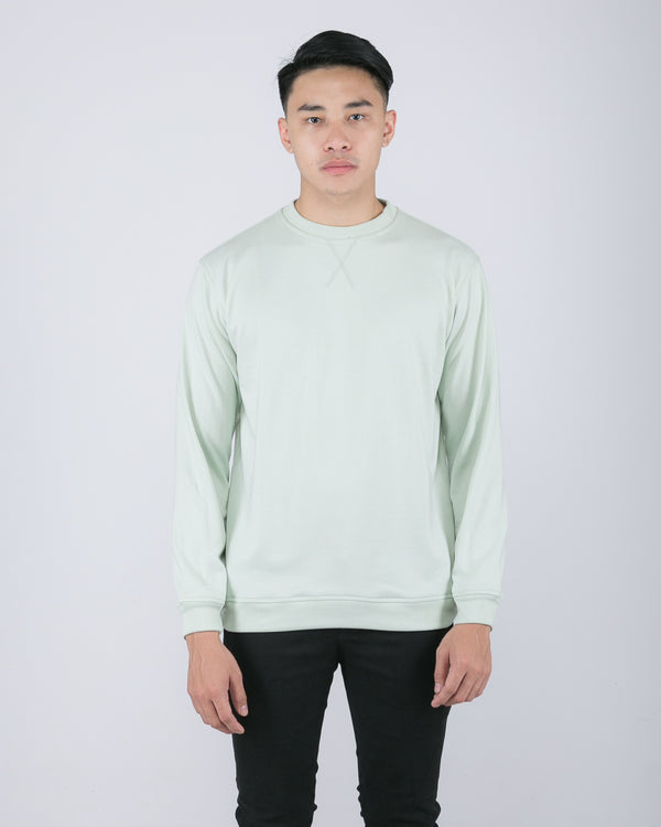 Tib Terry Sweater Glaucous Green