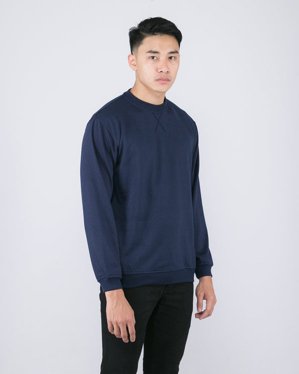 Tib Terry Sweater Navy