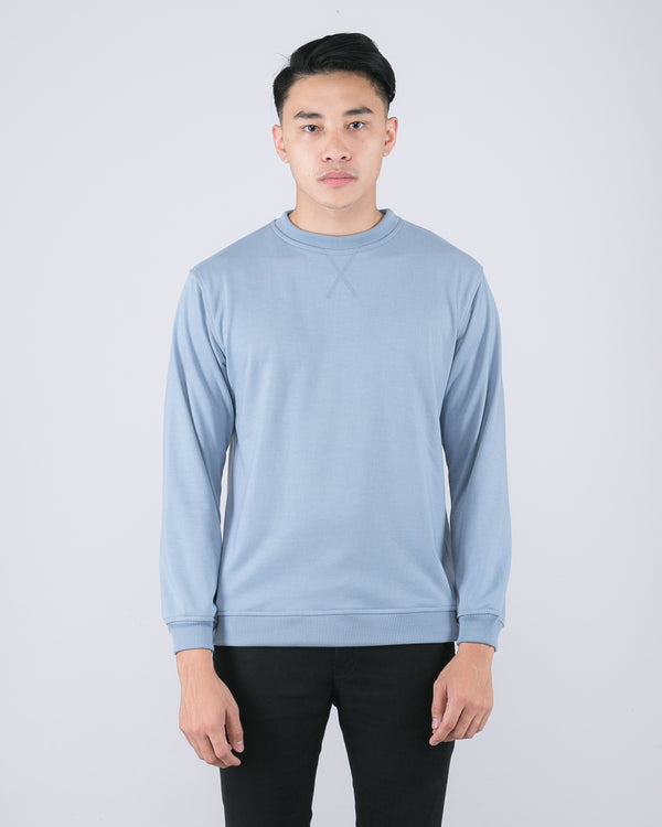 Tib Terry Sweater Soft Blue