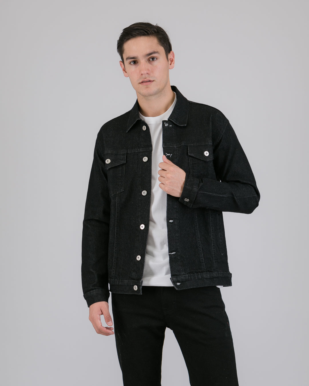 Waze Denim Jacket Black