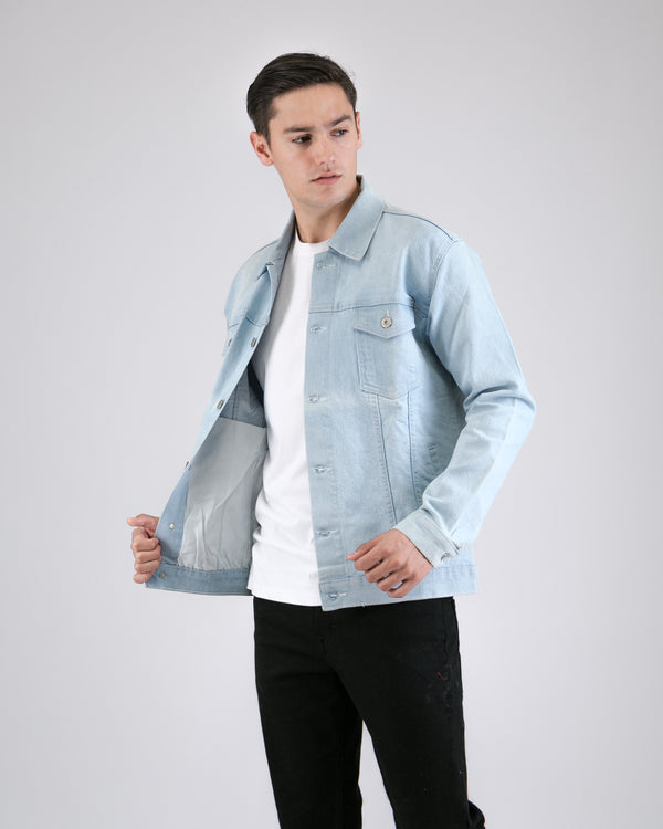 Waze Denim Jacket Light Blue